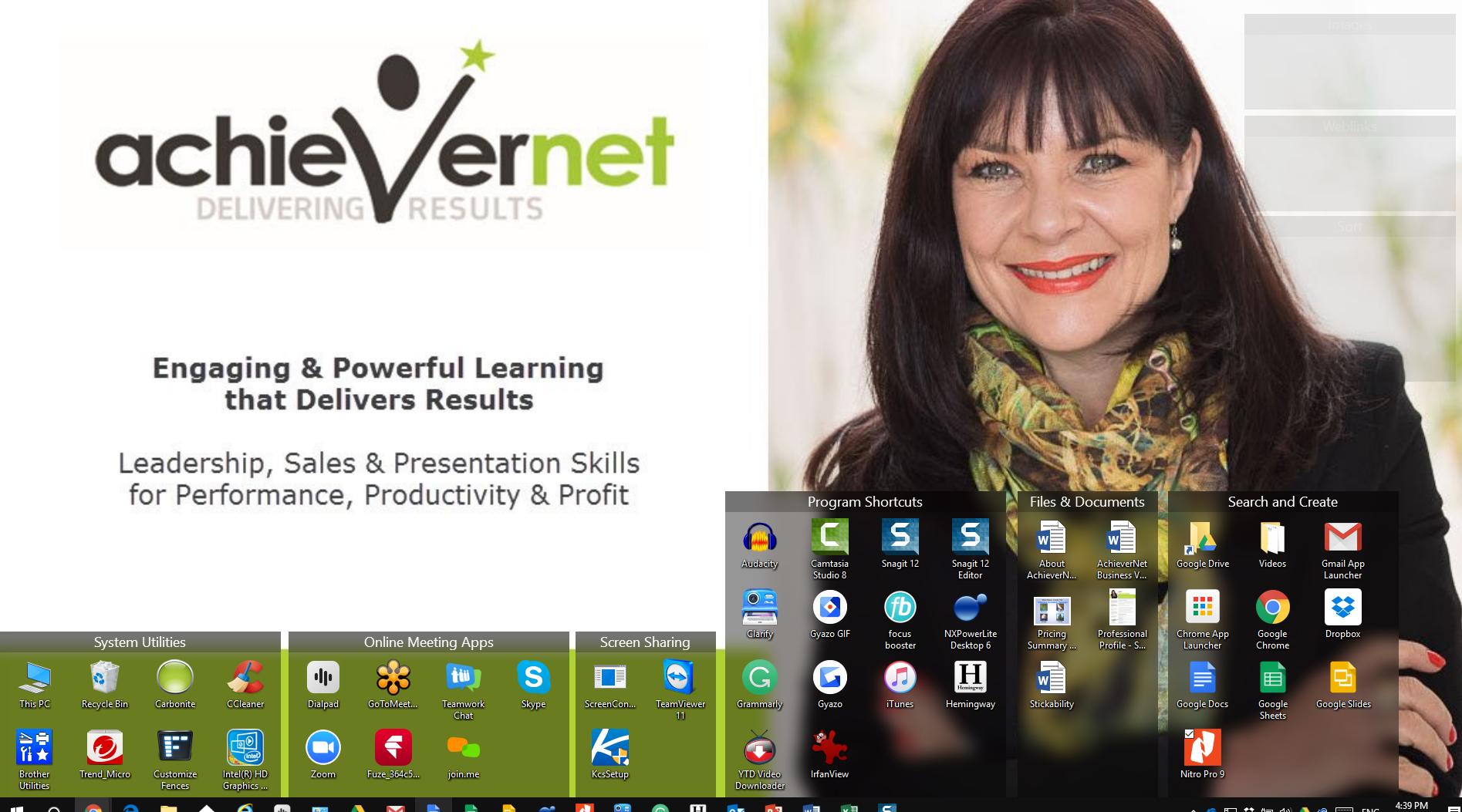 AchieverNet Desktop with Fences