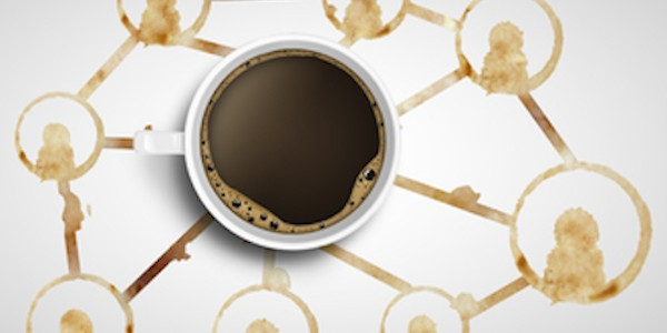 social media coffe prints rings and coffe cup
